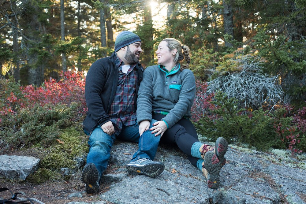 proposal spots acadia national park