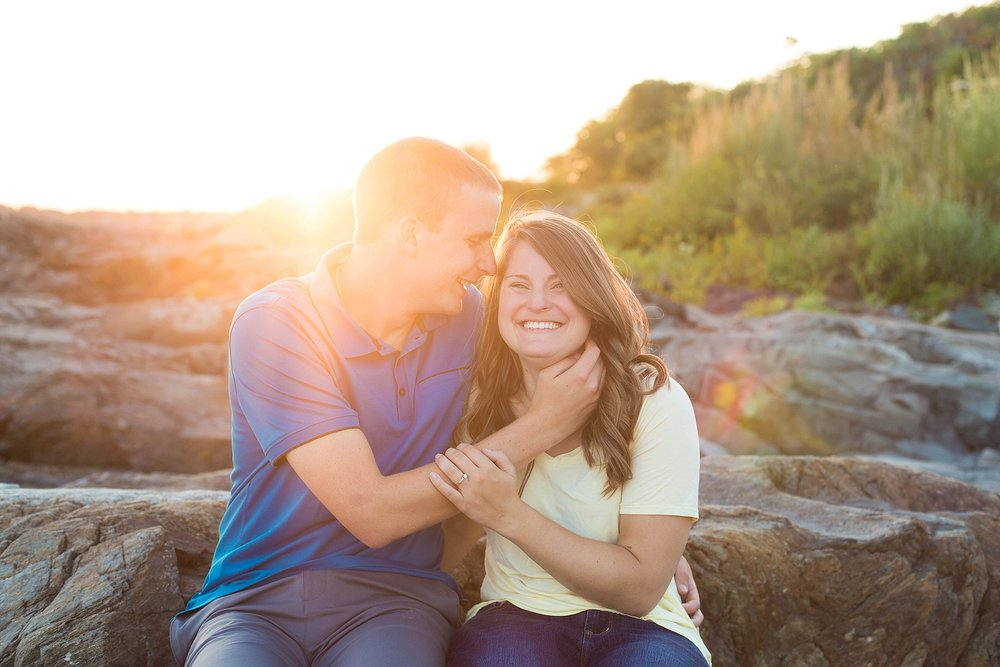 sunset engagement pictures