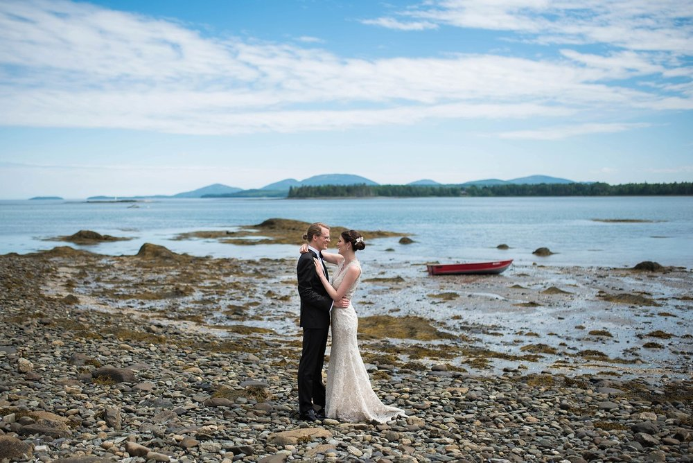 maine wedding by ocean