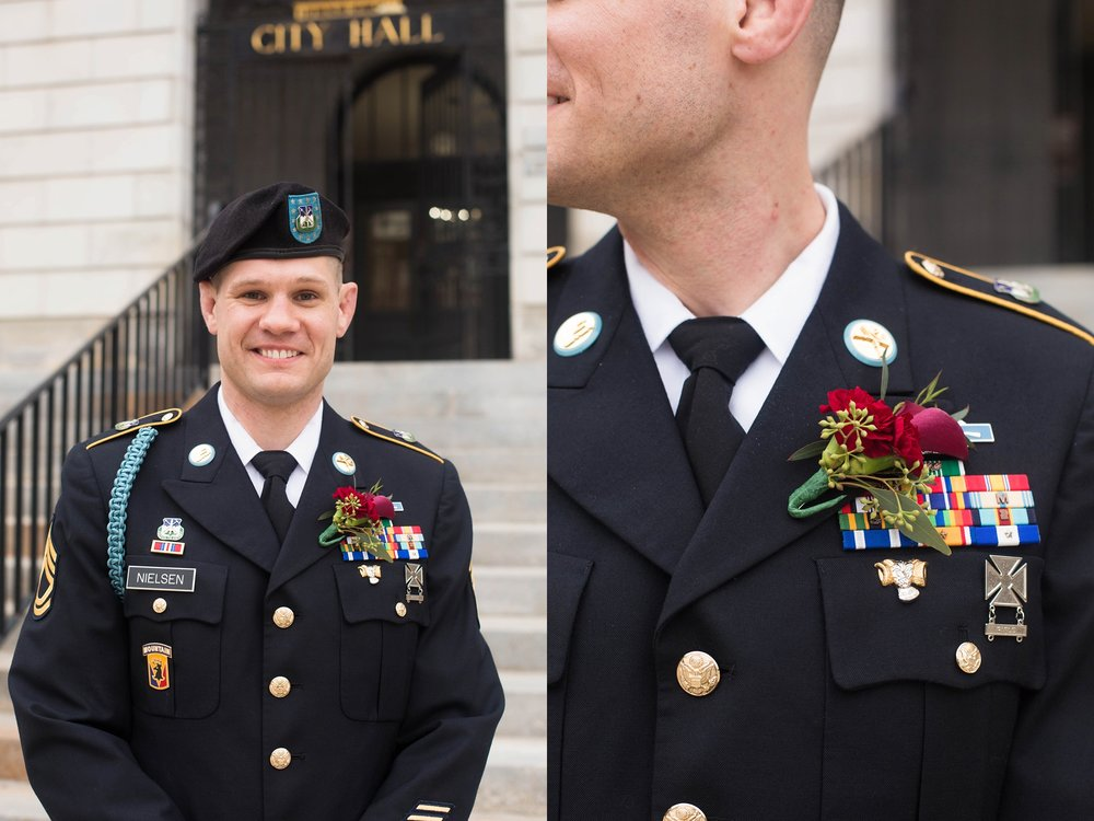 Maine military wedding
