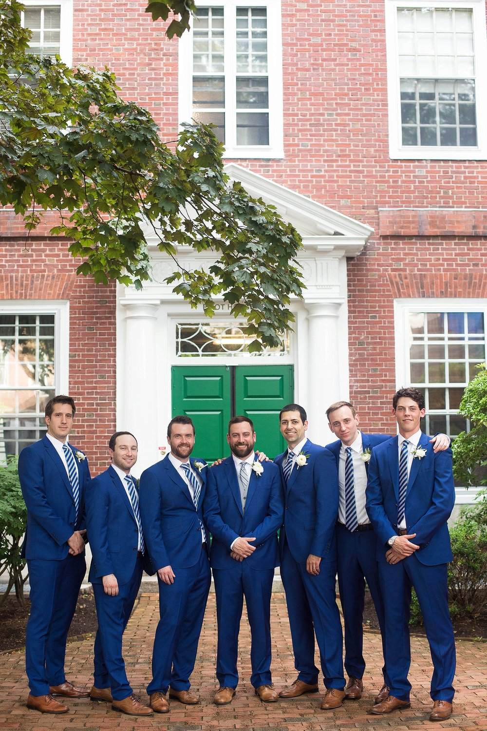 navy groomsmen suits