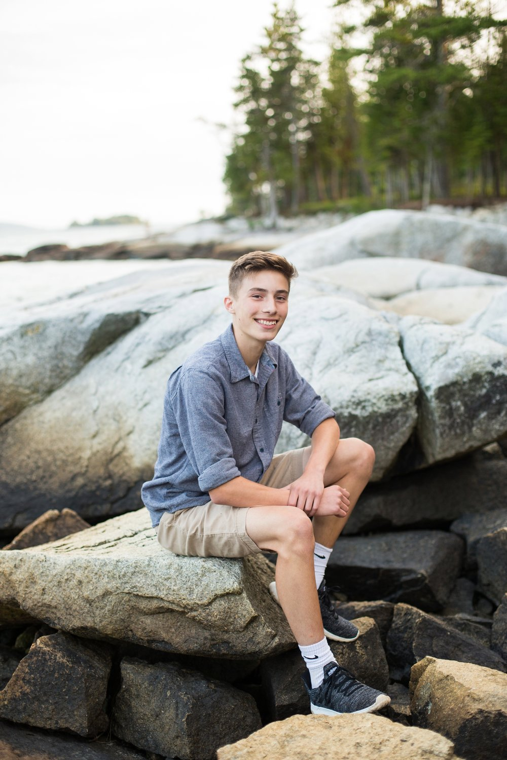 senior portraits on the coast