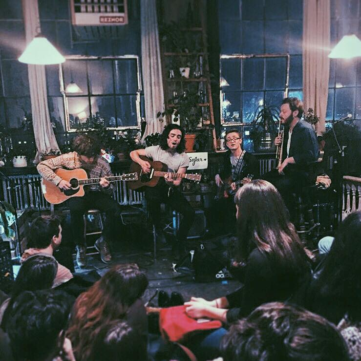 Del Water Gap playing Sofar Sounds in March, 2016