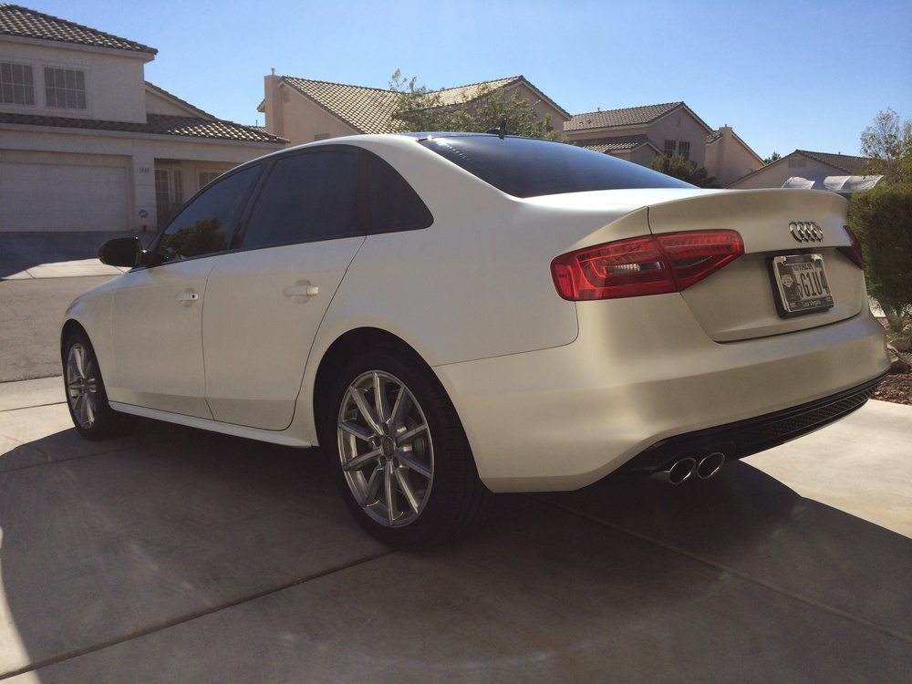 Satin Pearl White Audi A4 B8 Sd Wrap