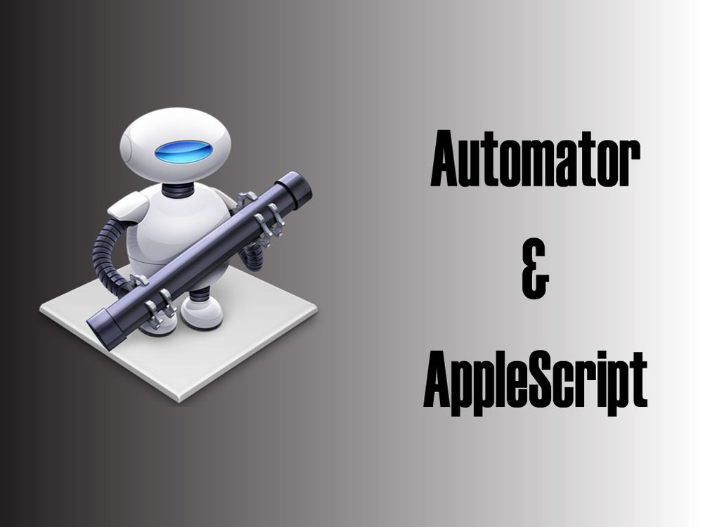 A Header Image I created for my blog article about my playing with automator & AppleScript
