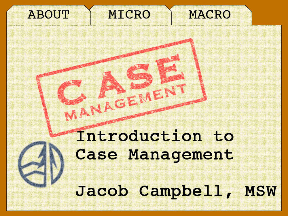 The graphic I used for PowerPoint presentation about Case Management