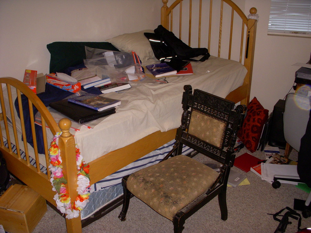 How I left my room prior to going to Europe.