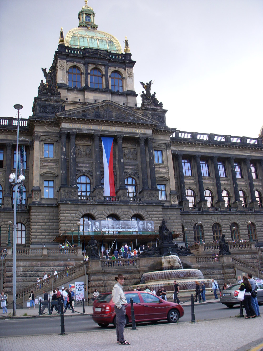 Trevor in Front of the National Museum in Prague