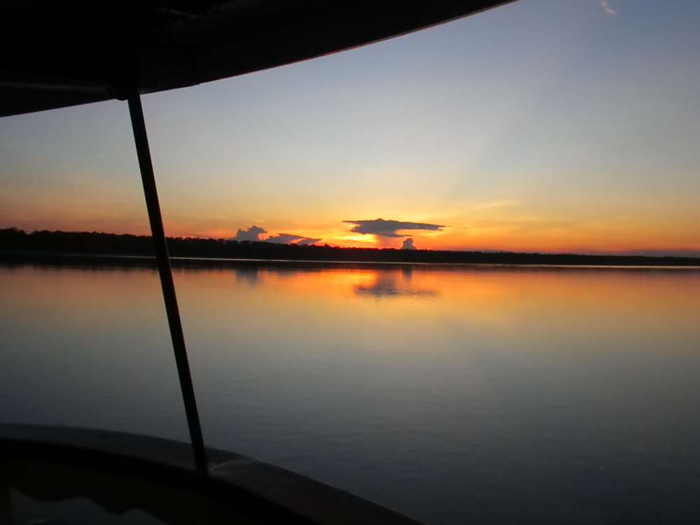 Sunset on the Boat on the Amazon