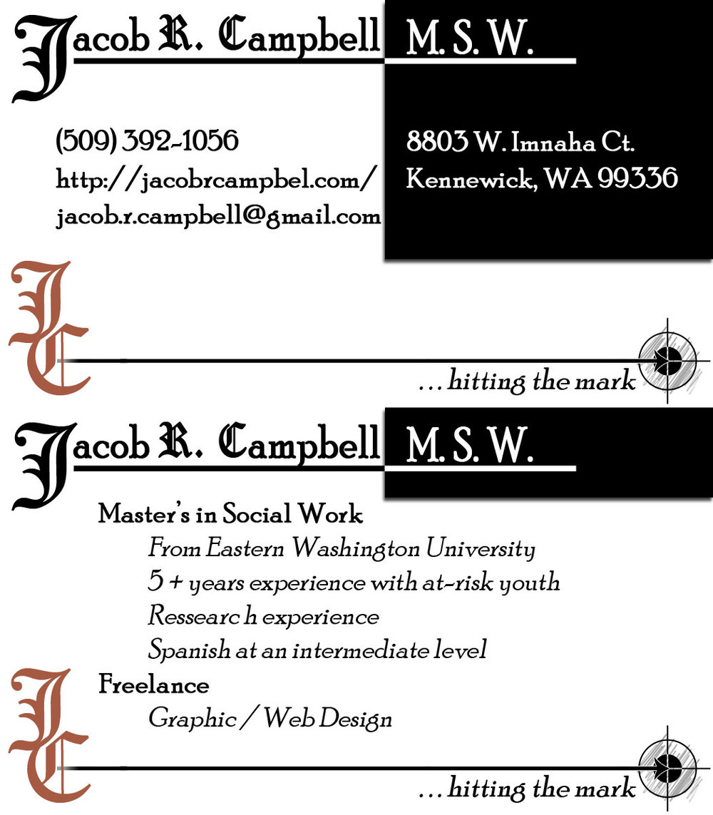 This is a Photoshop designed new version of my business card. I redesigned it to better match my website and logo. Also to look more professional and be a little bit more minimalist