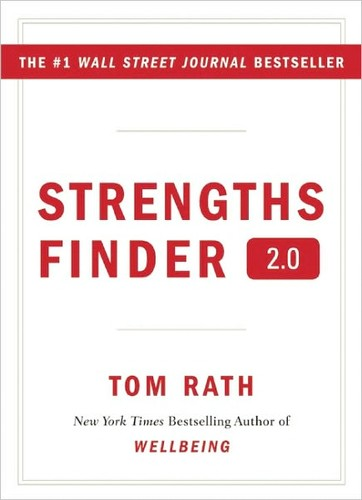 Tom Rath's Strengths Finder 2.0 Book Cover.  You can read Developing Strengths, Tim Roth's Strengths Finder 2.0 Review.
