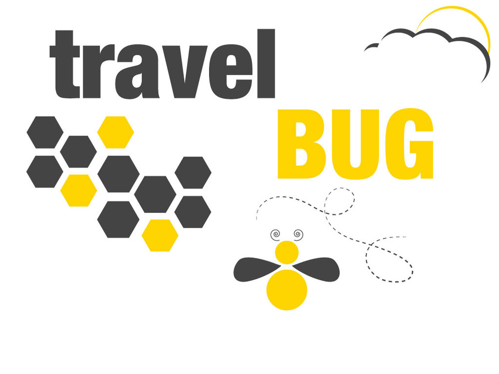 "Yes, I have the Travel Bug. A graphic I quickly put together in Adobe Illustrator depicting the words ""Travel Bug"" and some other graphics taken from All Free Downloads The Bee"