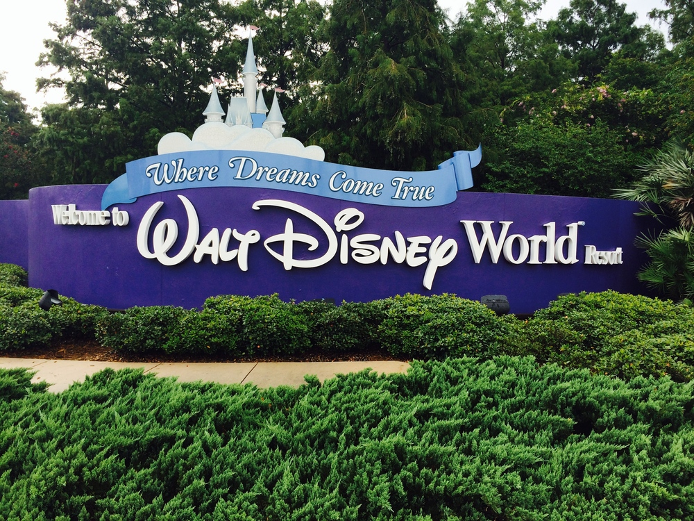 Disney World Magic Kingdom Entrance Sign to Lake Buena Vista Hotels
