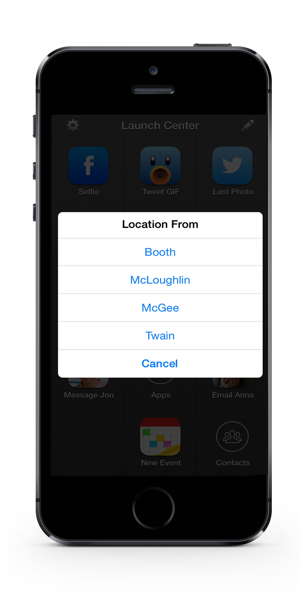 A screenshot of my list in action. Two clicks and I'm done...  iPhone mockup thanks to   Pixel Den