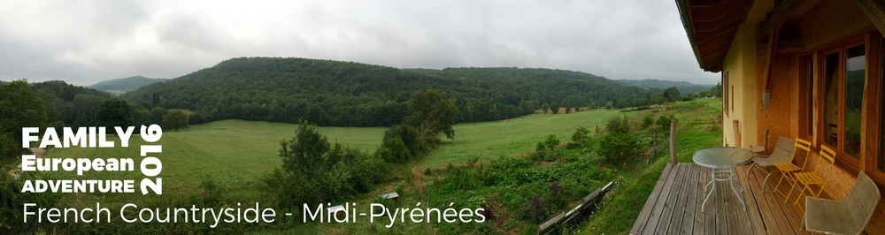 A photo from the Balcony of Sheila and Dennis house in the Commune of Fabas in the Midi-Phyrénées of the French Countryside.