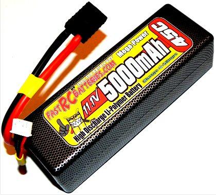 ONE MEGA-POWER 11.1V HARDCASE 5000mAH 45C LIPO BATTERY PACK
