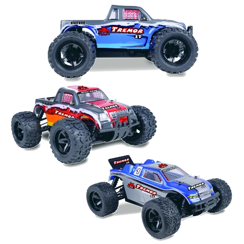 Tremor Series 1/16 Scale Electric Truck & Truggy.