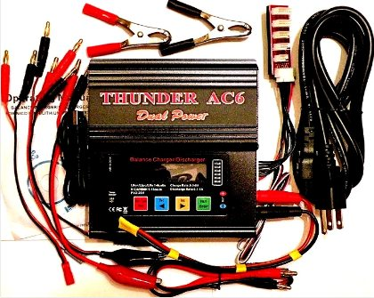 THUNDER DUAL POWER AC-6 AC/DC LIPO BATTERY CHARGER