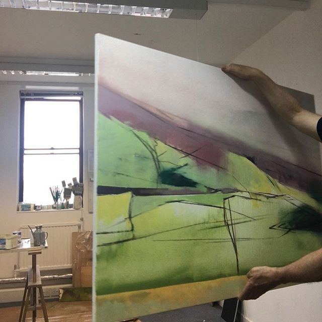 Time to work #work @theartistshouse #art #artists #paint #paintings #aesthetictryrant #theartistshouse  #artistsoninstagram #artistsofinstagram #landscape #fineart #exhibition #figurative # abstract #studio #walls #fields #edinburgh #borderlands #borders #oil#paint #painting #studio #oiloncanvas#1200mmx860mm