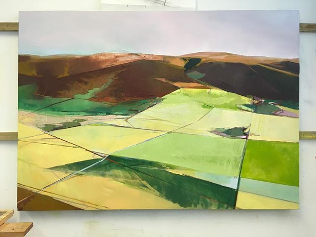 Getting close.............possibly #close @theartistshouse #art #artists #paint #paintings #aesthetictryrant #theartistshouse  #artistsoninstagram #artistsofinstagram #landscape #fineart #exhibition #figurative # abstract #studio #walls #fields #edinburgh #borderlands #borders #oil#paint #painting #studio #oiloncanvas#1200mmx860mm