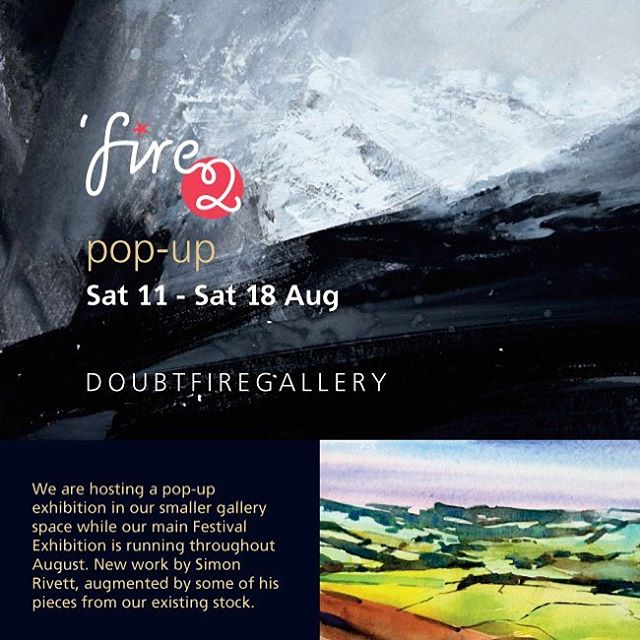 Pop Up Exhibition at the Doubtfire Gallery. Starts Noon Saturday the 11th and will run till the following weekend. Hope to see you there. #exhibition #art #doubtfiregallery #fire2