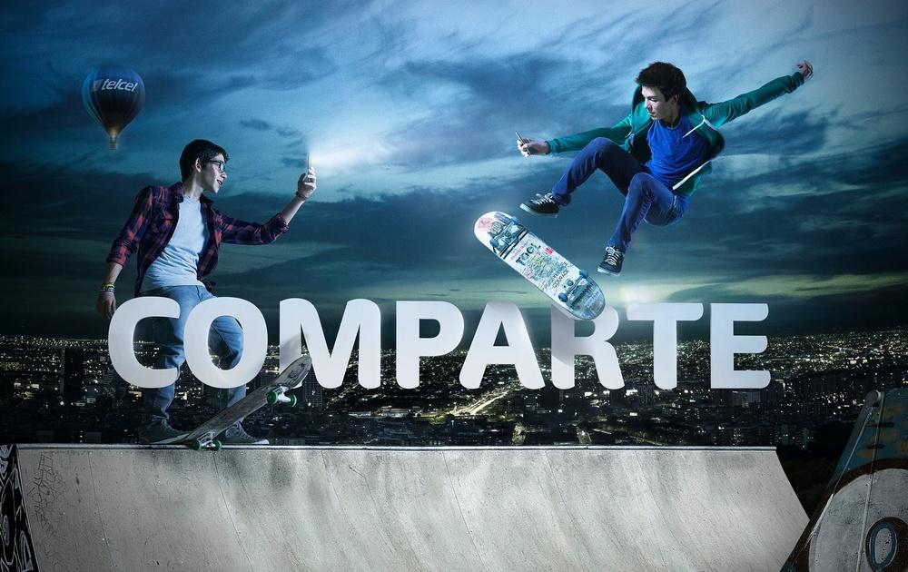 Client: TELCEL  1st. Mexican Mobile Company.   Agency: La Doble Vida ( México)   Retouch & CGI: Lucas Pigliacampo