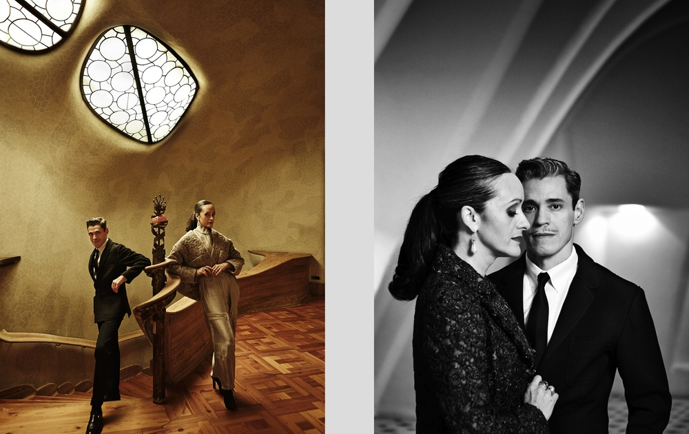 Client: SModa magazine for El País  Isabel and Rubén Toledo, Cuban fashion designers living in NYC.   Location: Casa Batlló, Barcelona, built by A.Gaudí.