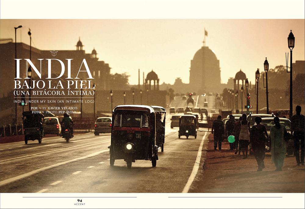 Client: Magazine Accent.  Aeromexico inflight business-class magazine.   Location: New Delhi, India.