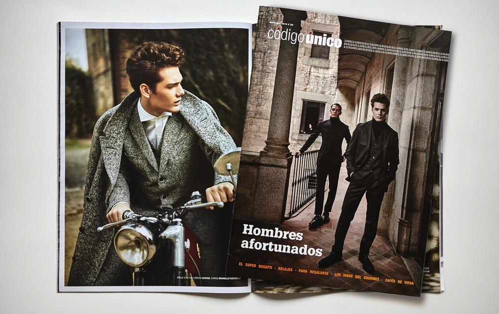 Client: CODIGO UNICO-La Vanguardia  Cover and interiors   Models:  Rubén y Haydem Herrera