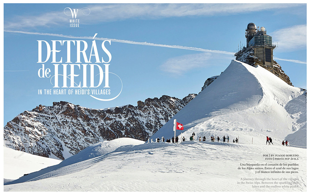 Client:  AIRE. Inflight Aeromexico magazine.   Location: Jungfraujoch, Switzerland.