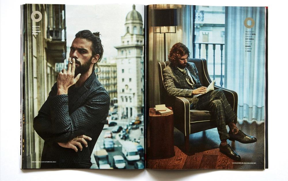 Client: Fashion editorial for MAGAZINE La Vanguardia.   Model:  Spyros Christopulos ( View Management)   Make up/ Hair:  Neus Tutusaus.   Fashion Stylist:  Patrycja Juraszczyk.   Photo Assistant:  Raúl Hernández   Location:  Hotel Pulitzer Barcelona, Spain.