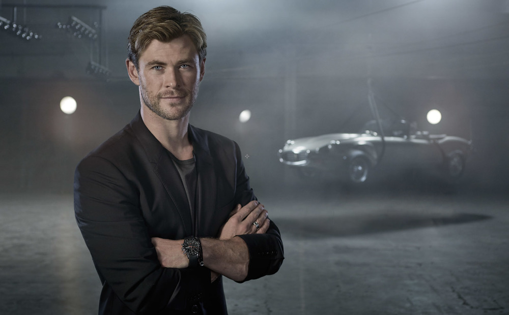 Actor:  Chris Hemsworth   Location:  Los Angeles, CA.   Client : Buchanan's  Photographer's version of the campaign.
