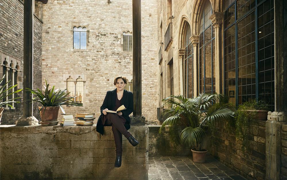 Client:  SModa/ El País Magazine  Ada Colau, Barcelona Mayor.   Location:  Real Acadèmia de les Bones Lletres, Barcelona.