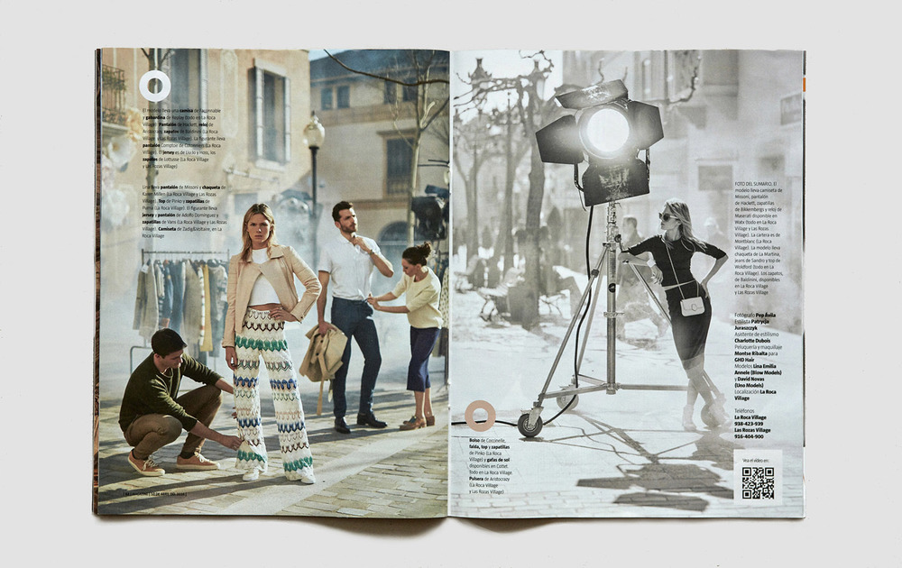 Client:  Magazine La Vanguardia   Location:  La Roca Village ( Barcelona).