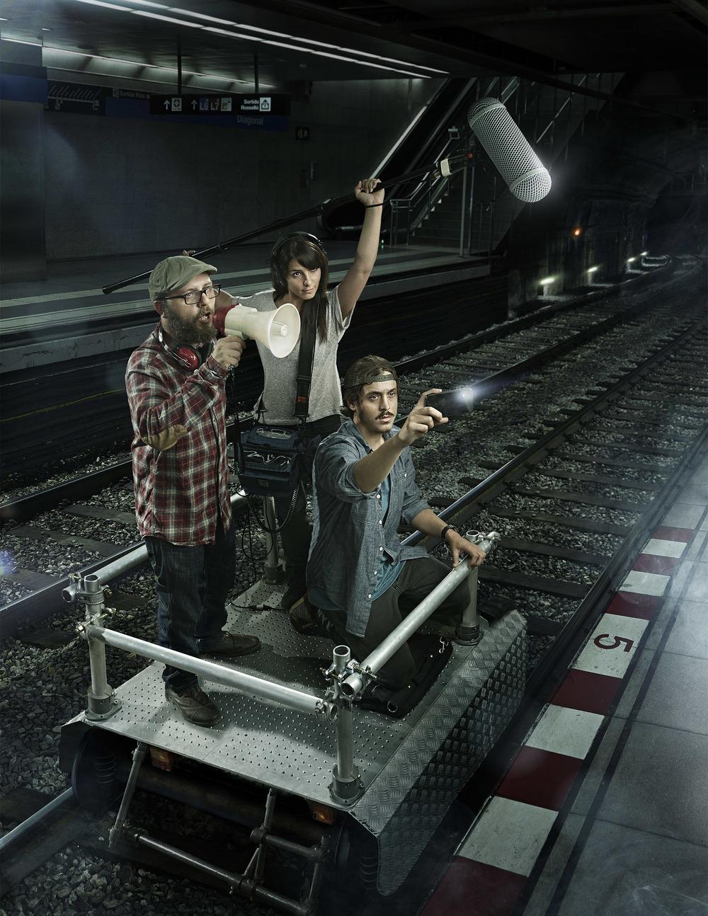 Client:  TMB  Subtravelling Festival poster, A film festival inside Barcelona Subway.   Agency:  Ogilvy One   Retouch:  Lucas Pigliacampo