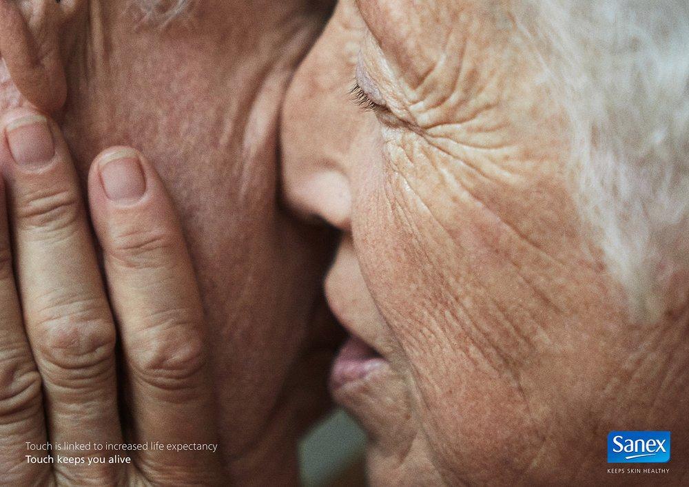 Client:  SANEX   Agency:  Contrapunto Bcn  Conceptual Brand campaign.  Touch keeps you alive.