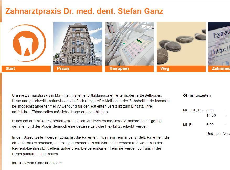 Zahnarztpraxis     Dr. Stefan Ganz