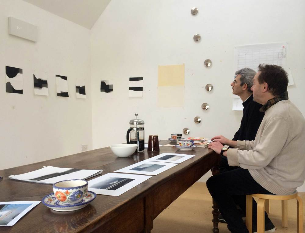 Edmund de Waal and David Ward in the studio
