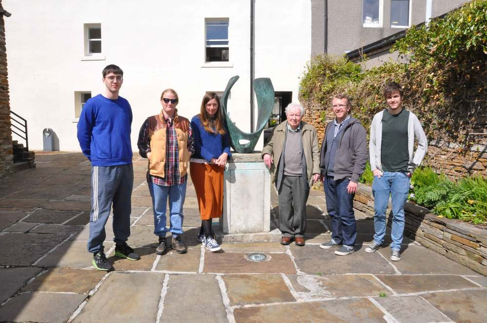 Nick Thomas (LUX), Charlotte Prodger, Florrie James, the late Alex Pirie, husband of Margaret Tait, Luke Colllins (LUX) & Sean Greenhorn of Glasgow Film Festival in 2015