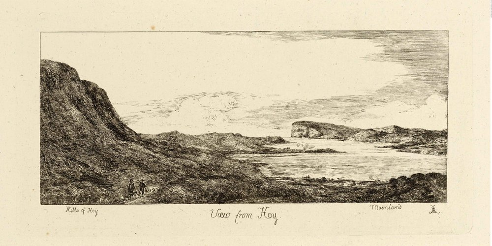 Elizabeth Leveson-Gower, Duchess of Sutherland 1780-1839 View from Hoy, Views in Orkney, print © The Trustees of the British Museum