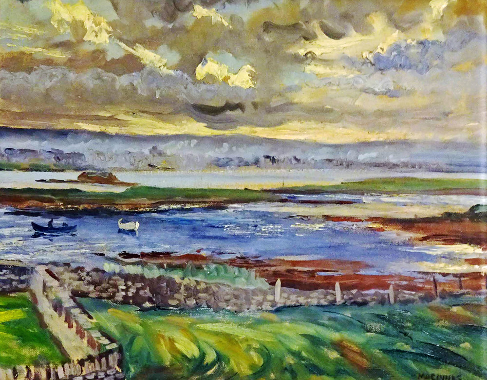 Ian MacInnes, painting of Stromness. Private Collection
