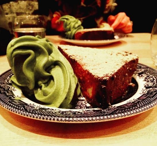 (French toast and matcha ice cream at  Shackfuyu , Soho!)