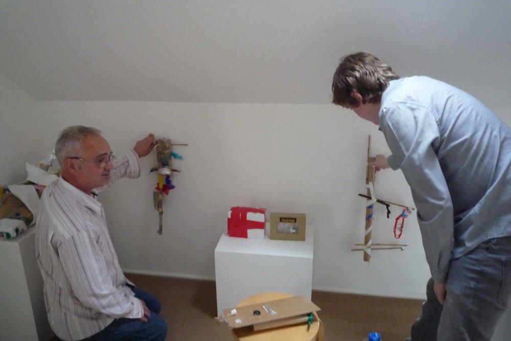 Hanging  'magic!'  exhibition