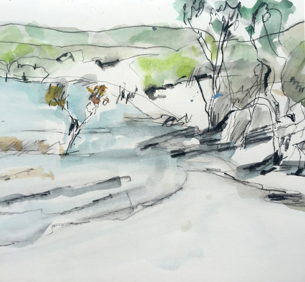 Lake Birrabeen sketch