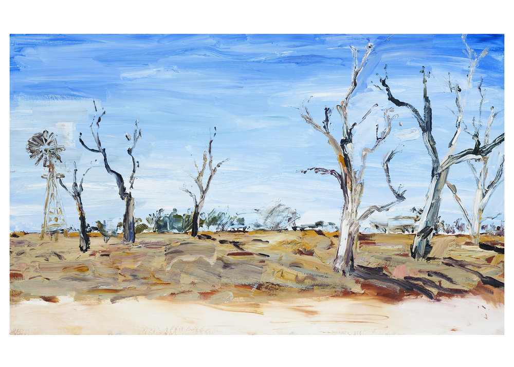 IIllustration from Mallee Sky picture book by Jodi Toering/Tannya Harricks. Published by Walker Books/Black Dog books.     Fine art print #2 Landscape 40 x 56 cm   Limited edition of 50  AU $245 plus postage   to order please email me at harricks@iinet.net.au