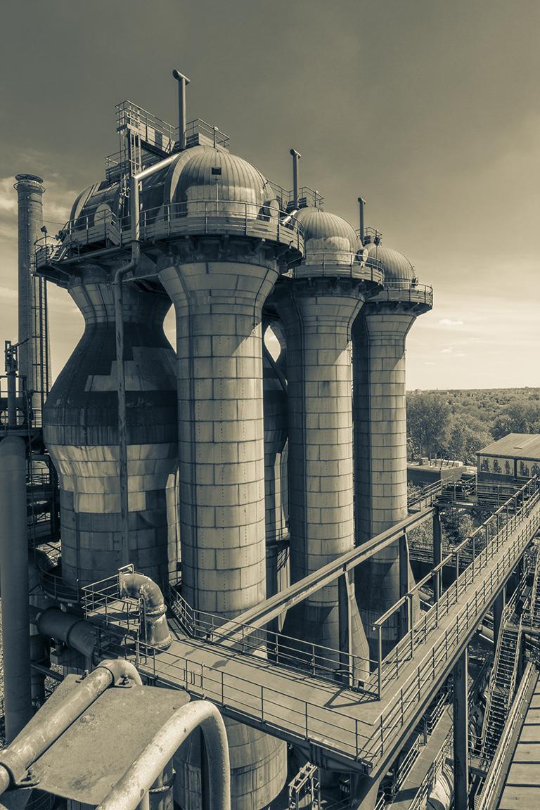 Industry_FLOW_04_Steel / decommissioned steel works / Landschaftspark / Duisburg Nord / Germany / 2017  840mm H x 595mm W (A1) + 100mm border / pigment print on 188gsm Hahnemühle photo rag paper