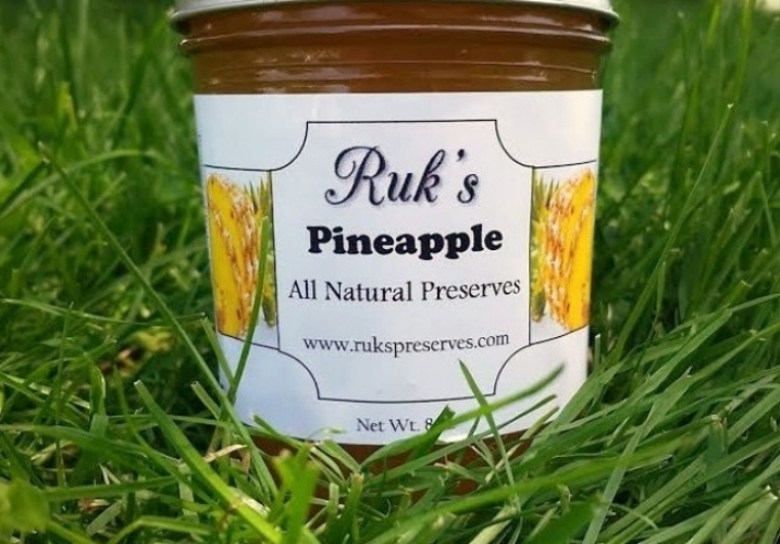 8 oz. Jar                                         (January - December)    Pineapple is the flavor that got us started and one of our customer favorites! Enjoy this flavor on toast or glazed over your holiday ham!    Ingredients: Pineapple, Sugar, Pectin, Organic Lemon Juice