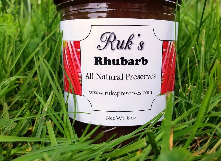 8 oz. Jar                                                     (May - July)    Yep, just plain rhubarb, but it's anything but plain... made with both the sweet fresh shoots and tart green stalks from our homegrown rhubarb plants this flavor is  a great sweet and tart combination.    Ingredients: Rhubarb, Sugar, Pectin, Organic Lemon Juice