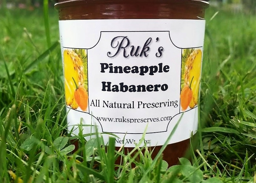 8 oz. Jar                                 (January - December)    Pineapple Habanero is sweet and a whole lot of spicy and perfect on wings but has endless recipe possibilities!    Ingredients: Pineapple, Sugar, Pectin, Organic Lemon Juice, Habanero Peppers