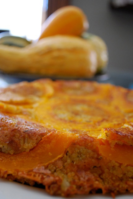 squash and quinoa pie